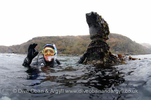 Stern, Post, SS Meldon, Wreck, Shipwreck, Loch Buie, Mull, Argyll, Scotland